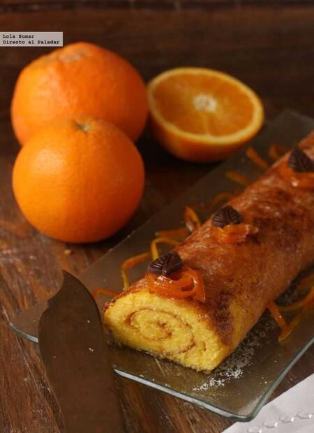 Brazo de naranja, receta de postre