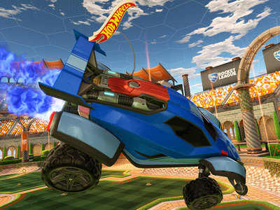 Rocket League se hace real: Psyonix anuncia un set de Battle-Cars controlados por móvil con estadio y balón incluidos