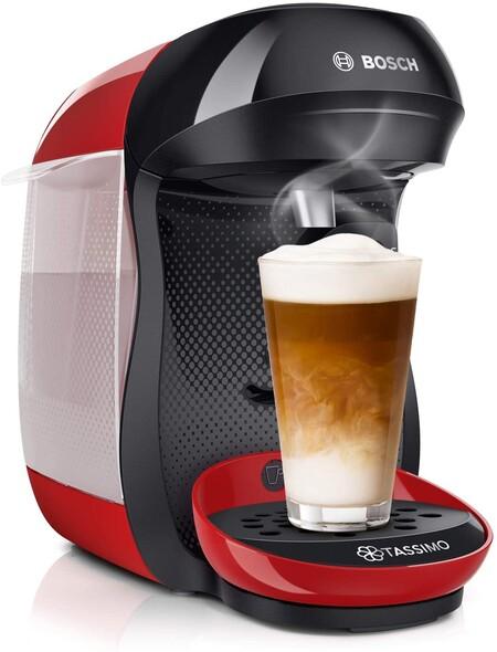 Bosch Tassimo Happy Tas1003 Cafetera De Capsulas Con Tecnologia Intellibrew 1400 W Color Rojo