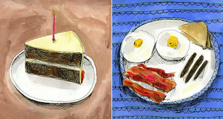 Food on Paper, bellas ilustraciones de comida