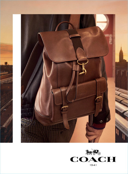 Coach Fall Winter 2017 Men Campaign Brown Leather Bleeker Backpack Close Up