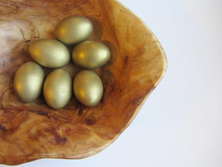 Huevos Pascua Dorados