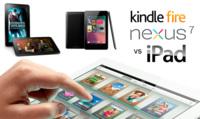 Comparativa del iPad con el Nexus 7 y los nuevos Kindle Fire