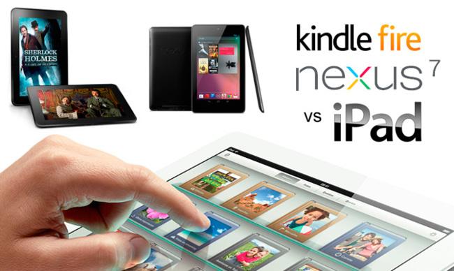Kindle Fire y Nexus 7 contra el nuevo iPad