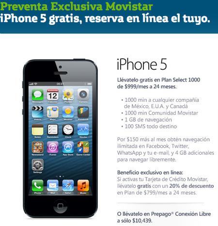 iPhone 5, primeros precios en México