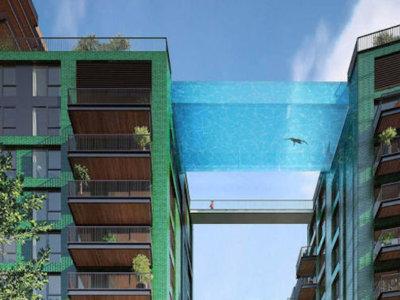 Esta alucinante piscina transparente unirá las azoteas de dos edificios de Londres