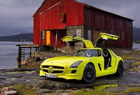 Mercedes-Benz SLS AMG E-Cell alas de gaviota