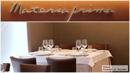 Restaurante Materia Prima. El mercado en tu mesa