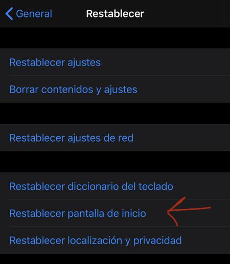 Iphone Restablecer Pantalla Inicio