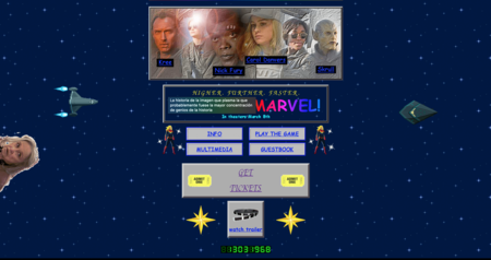 La web de 'Capitana Marvel' es un maravilloso homenaje al Internet de los 90 donde no falta ni un detalle nostálgico