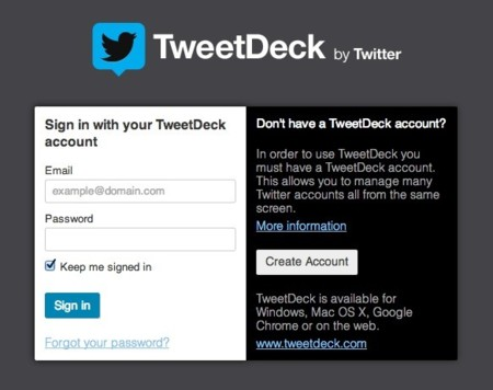 tweetdeck registro
