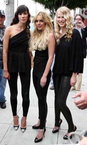 Lindsay Lohan presenta su línea de leggings