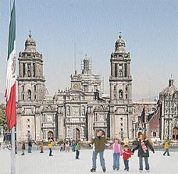 La Plaza del Zócalo convertida en pista de hielo