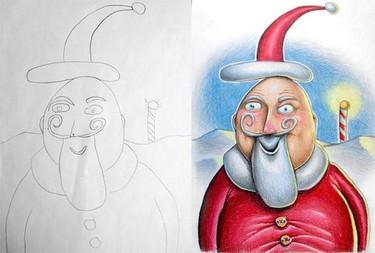 El padre que colorea los dibujos de sus hijos... ¡y quedan así de bonitos!