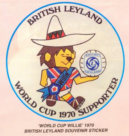 World Cup Willie Sticker9bc2