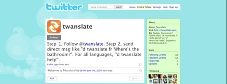 Twanslate, traduce textos desde Twitter