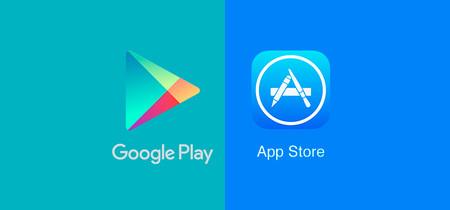Resultado de imagen para Google Play y Apple Store