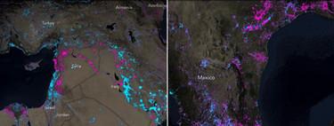 Este espectacular mapa ilustra qué lugares del mundo están cada vez más iluminados y cuáles menos