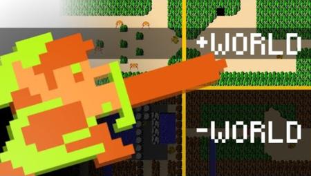 El clásico The Legend of Zelda de NES también tiene su Minus World,  y está lleno de cosas surrealistas