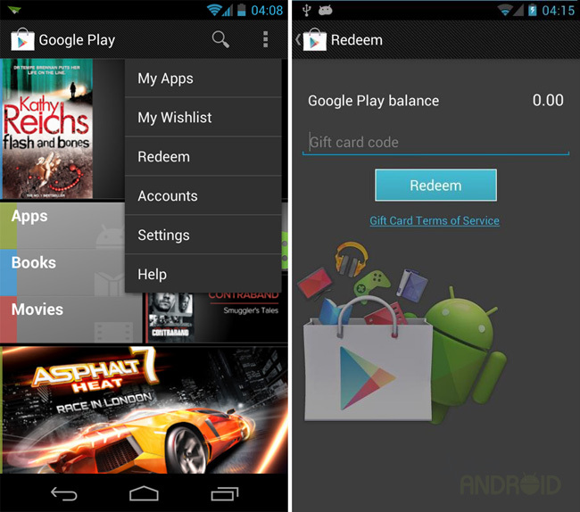 Reedem Google Play