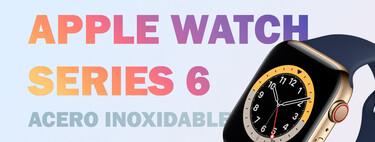 Ahorra 100 euros en el lujoso Apple Watch Series 6 GPS + Cellular 44 mm de acero inoxidable, a precio mínimo en Amazon