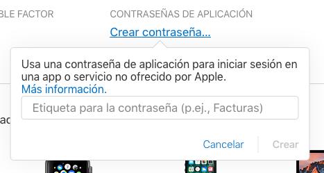 Contrasena Aplicacion Apple™ Id