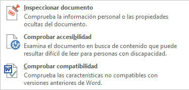 Desplegable Inspeccionar documento