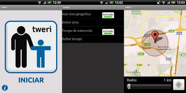 Tweri funcionando en Android