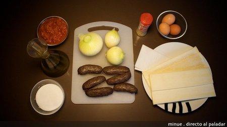 empanada de morcilla - ingredientes