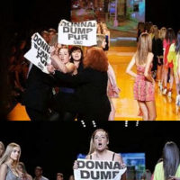 PETA ataca en el desfile de DKNY en la Semana de la Moda de Nueva York
