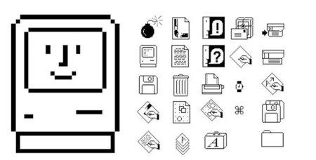 Historia de la iconografía usada por los Macs