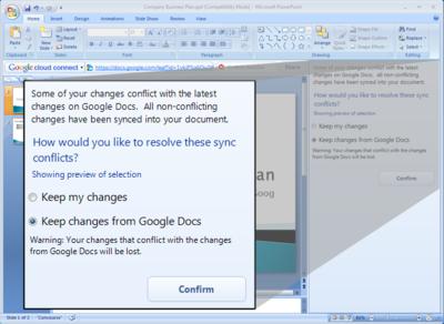 Google Cloud Connect, sincronización entre Office y Google Docs