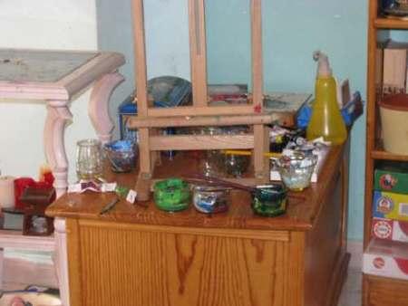 mesa de artista de Héctor