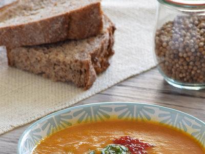 Crema de calabaza y manzana con miso: receta con y sin Magimix Cook Expert