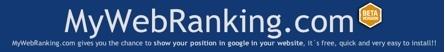 MyWebRanking, mostrando nuestra posición en las busquedas de Google