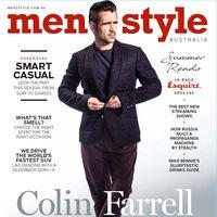Un más que apuesto Colin Farrell en la portada de Men's Style Australia