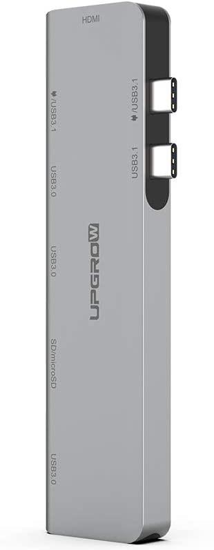 Upgrow Hub USB C, Adaptador de concentrador Tipo C, Accesorios para MacBook Pro con 3 Puertos USB 3.0