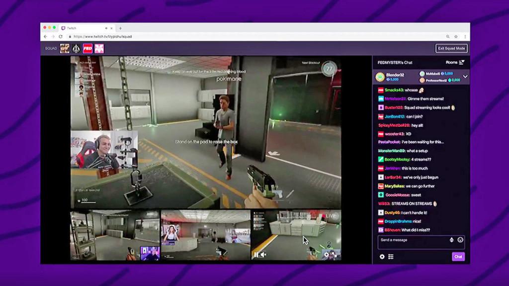Ya está aquí Twitch Squad Stream, la nueva función que permitirá que hasta cuatro 'streamers' transmitan juntos en la misma ventana