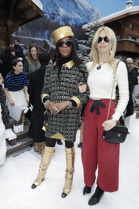 Naomi Campbell y Claudia Schiffer chanel otoño invierno 2020