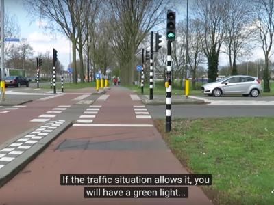 Video: Estos si son semáforos inteligentes, menos tráfico y más ciclistas y peatones seguros