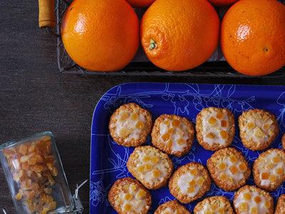 Galletas glaseadas de naranja y copos de avena. Receta