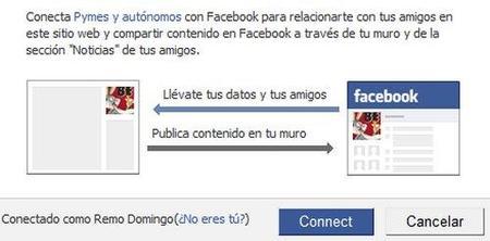 Conéctate a Pymes y Autónomos con tu cuenta Facebook