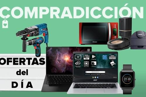 Ofertas del día y chollos en Amazon: herramientas Bosch, robots de limpieza Roomba, microondas Candy o portátiles Chromebook Acer y ASUS a precios rebajados