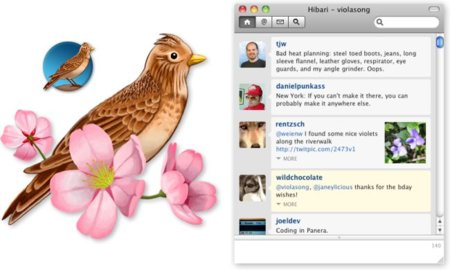 Hibari, nuevo cliente de Twitter para Mac OS X