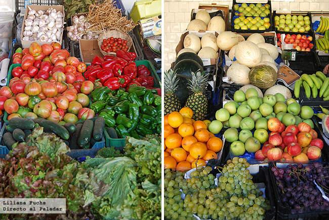 Frutas y verduras en el mercado de Oporto