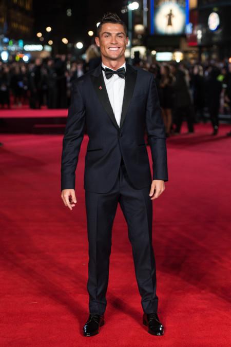 Cristiano Ronaldo Impecable Elegante Premiere En Londres