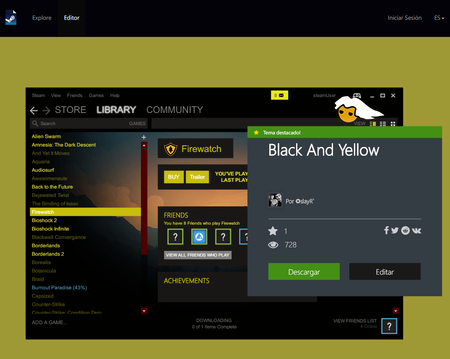 Steam Customizerblack And Yellow Editor