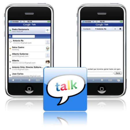 Google Talk optimizado para el iPhone/iPod Touch