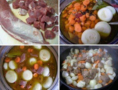 Preparación de solomillo marinado