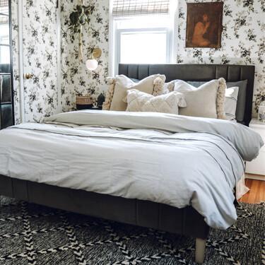 Antes y después: un pequeño dormitorio que crece en espacio visual y personalidad